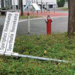 Vandalismus am Schul- und Sportzentrum