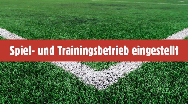 Einstellung des Spiel- und Trainingsbetriebes beim FC Fortuna Schlangen